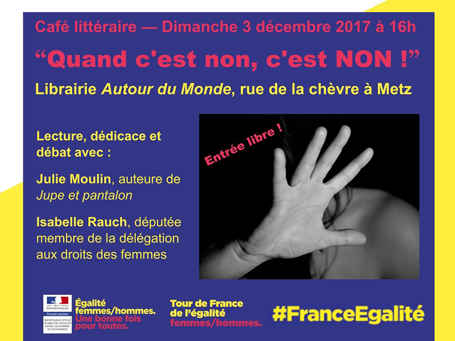 cafe-litteraire-quand-c-est-non-tour-France-egalite-2018